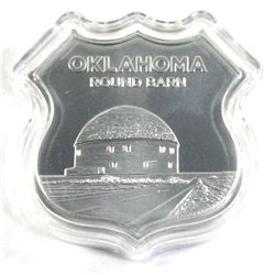 Icons of Route 66 Shield - Oklahoma round barn 1oz Silver (Tax Exempt)