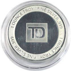 TD 1oz Fine Silver Rounds sealed in Original Packaging (Tax Exempt).