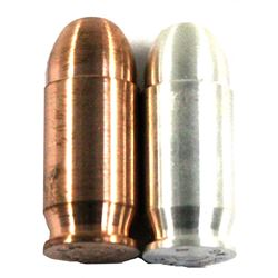 1oz Copper & 1oz Fine Silver Bullets. You will receive 1 of each bullet in both metals. 2pcs (TAX Ex