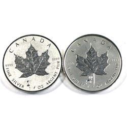 2015 Year of the Ram & 2018 Canada $5 Edison Light Bulb  1oz .9999 Fine silver maple leaf (Tax Exemp