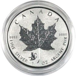 2016 Canada $5 Monkey Privy Mark silver Maple leaf ( Tax Exempt)
