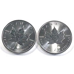 2019 & 2020 Canada 1oz .9999 fine silver maple leaf ( Tax Exempt). 2pcs