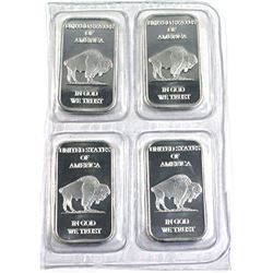 4x United States Buffalo 1oz .999 Silver Bar (TAX Exempt)
