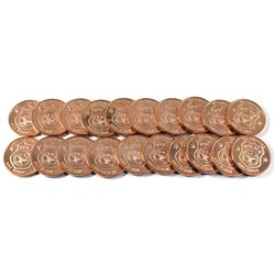 20x Pure Copper - 1oz .999  Maple leaf Fine Copper coin (Tax Exempt) 20pcs