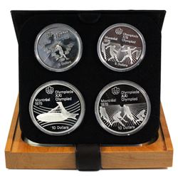 1976 Canada Montreal Olympics  $5 & $10 4-coin Sterling Silver proof Set