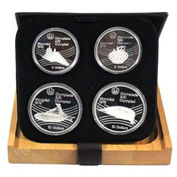 1976 Canada Montreal Olympics Series VII $5 & $10 4-coin Sterling Silver proof Set in Original Packa
