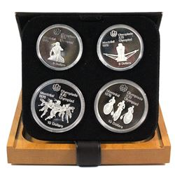 1976 Canada Montreal Olympics Series III $5 & $10 4-coin Sterling Silver proof Set in Original Packa