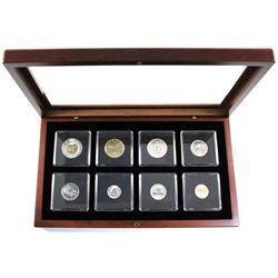 2000 Canada Specimen year set with Map Medallion in  wooden display