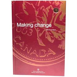 2003 Royal Canadian Mint's Annual Report with Gold Plated 1-Cent. Still sealed in Original packaging
