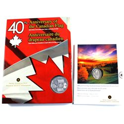 2005 Canada Uncirculated Dollar with Interactive CD-ROM & 2005 Canada Saskatchewan 25-cent first Day