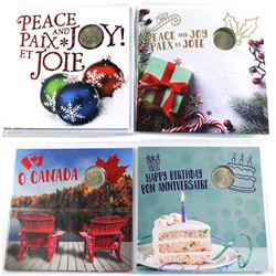 2015 Holiday, 2018 Holiday, 2018 Oh Canada & 2018 Birthday Commemorative gift sets. 4pcs