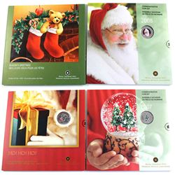 2005,2006,2007 & 2018 Canada Commemorative holiday gift sets. 4pcs
