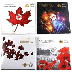 5x Canada commemorative silver coins (Tax Exempt): 2017 Canada $5 Proudly Canadian Glow-in-the-Dark