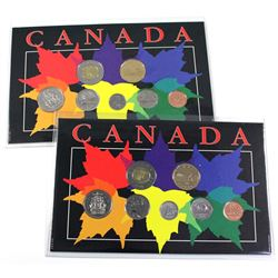 Pair of 2000 Ottawa & Winnipeg Proof-Like 7-coin year set. 2pcs