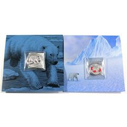 2014 Canada $50 Polar Bear ($50 for $50 #1) Fine Silver & 2016 Canada $25 True North Fine Silver Coi