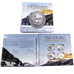2013 Canada 20 for 20 Series $20 Fine silver coins (Tax Exempt): 2013 Hockey, 2013 Wolf, 2013 Iceber