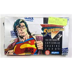 "SEALED BOX OF ""RETURN OF SUPERMAN"" TRADING CARDS"