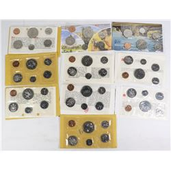 10 CANADIAN PROOF-LIKE SEALED MINT COINS