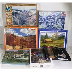SEALED 7 PUZZLES VARIETY OF PIECES