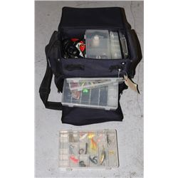 FISHING TACKLE STATION LOADED WITH HOOKS AND MORE
