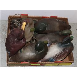 DUCK DECOYS- ANTIQUE RUBBER- BOX LOT OF 10+ WITH