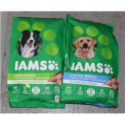 TWO BAGS OF IAMS DOG FOOD