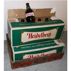 HEIDELBERG BEER BOTTLES IN ORIGINAL BOX - LOT OF 3