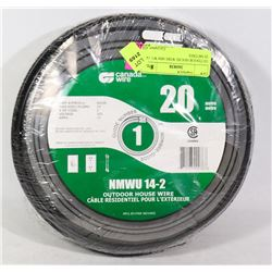 OUTDOOR HOUSE WIRE MM WU 14-Z 20 METERS