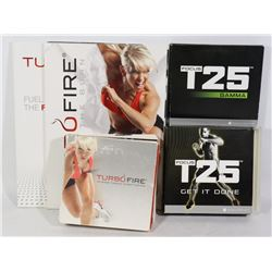 BEACHBODY TURBO FIRE AND T25 WORKOUT DVDS