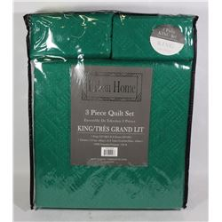 NEW URBAN HOME 3PC KING SIZE QUILT SET