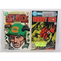 2 DC SPECIALS SGT. ROCK ENEMY ACE RED BARRON