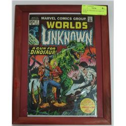 WORLDS UNKNOWN #2 COMIC IN FRAME