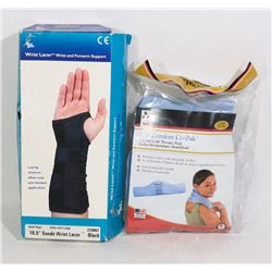 SUEDE WRIST LACER & HOT/COLD THERAPY PACK