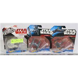 set of star wars HOT WHEEL STAR SHIPS