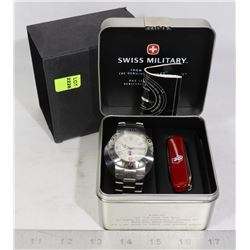 """SWISS ARMY"" WATCH AND POCKET KNIFE IN GIFT BOX"