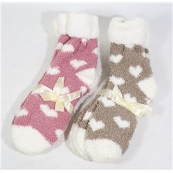 4 PAIRS OF LADIES COZY SOCKS (NEW)