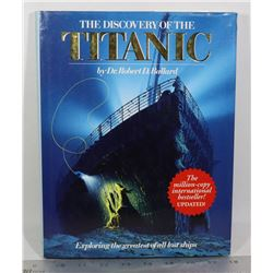 DISCOVERY OF THE TITANIC HARDCOVER BOOK