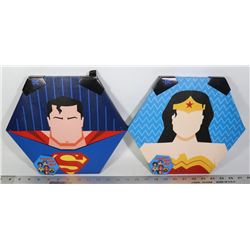 NEW SUPERMAN AND WONDER WOMEN WALL ART