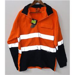 NEW 3M BRAND MENS SIZE XL HI VIS WORK SWEATER