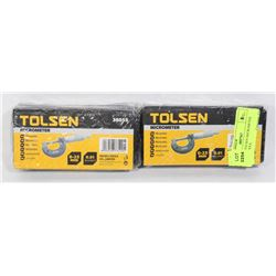 SEALED 2 TOLSEN MICROMETER METRIC TOOLS