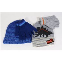 2PK BOYS TONGUE AND GLOVE SET, CLOTHING