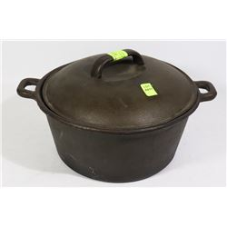 "CAST IRON POT, 10"" ACROSS, 4-1/2"" TALL HOUSEHOLD"