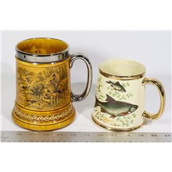 TWO (2) VINTAGE STAFFORDSHIRE MUGS