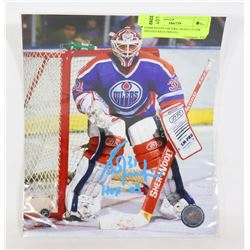 EDMONTON OILERS GRANT FUHR SIGNED 8X10 PHOTO