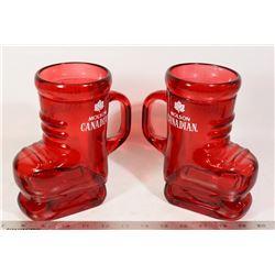 """MOLSON CANADIAN LARGE BEER MUG """"SKATES"""" (2)"""