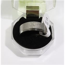 """LORDS PRAYER"" MENS RING SIZE 11"