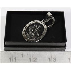 SAINT CHRISTOPHER PENDANT WITH 23 INCH