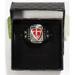 316L STAINLESS STEEL KNIGHTS TEMPLAR SIZE 11
