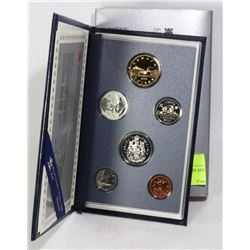 1993 CANADIAN 6 COIN SPECIMEN COIN SET WITH COA