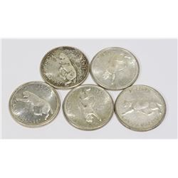 5 SILVER 25 CENTS SILVER 1967 COUGAR CURRENCY